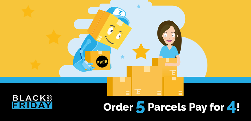 Black Friday 2020 Deal - Order 5 parcels pay for 4!